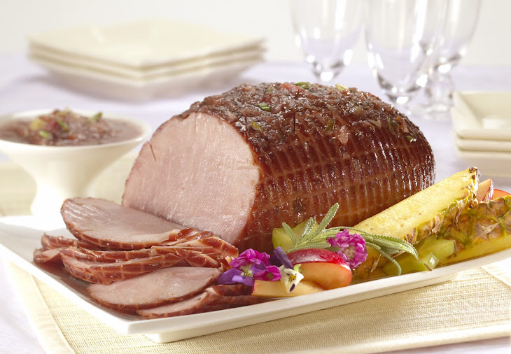 Baked Ham with Sweet 'N' Sour Plum Sauce Recipe