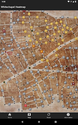 Screenshot for Whitechapel Heatmap in United States Play Store