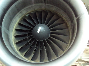 Photo: Giant engine-ANA Haneda Maintenance Center