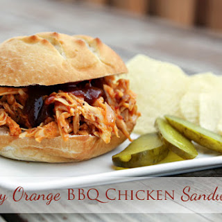 Smoky Orange Barbecue Chicken Sandwiches