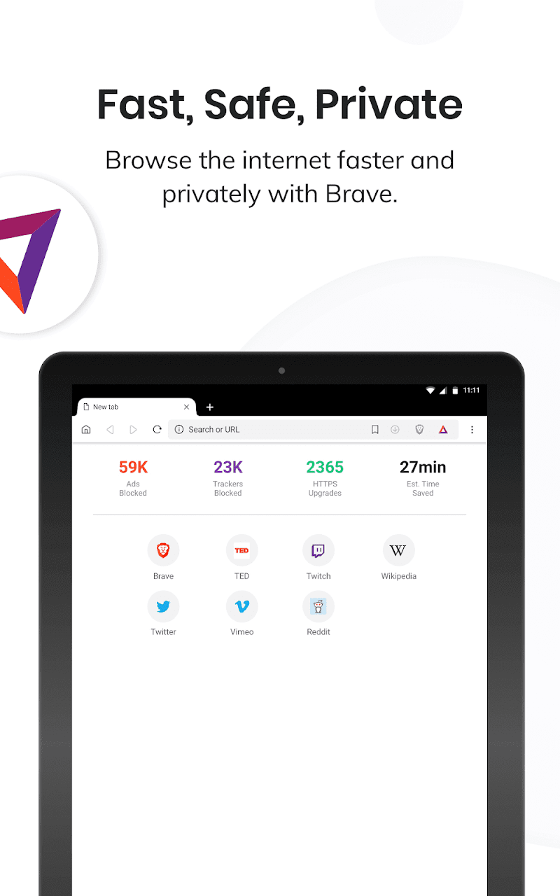Brave Privacy Browser: Fast, free and safe browser Screenshot 5