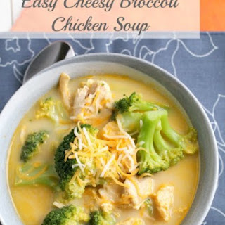 Easy Cheesy Broccoli Chicken Soup