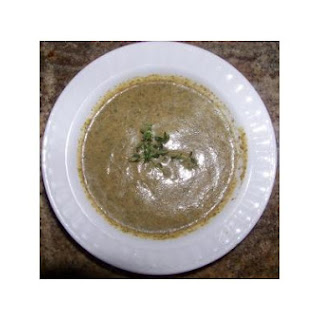 Creamy Roasted Broccoli and Caramelized Onion Soup