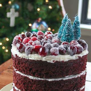 Winter Wonderland Mint Chocolate Cake.