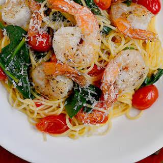 Shrimp Florentine Pasta.