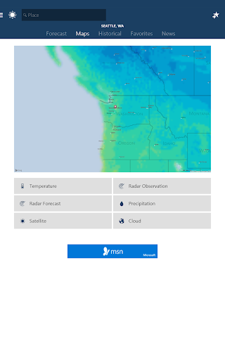 MSN Weather - Forecast & Maps 1.2.0 screenshots 6