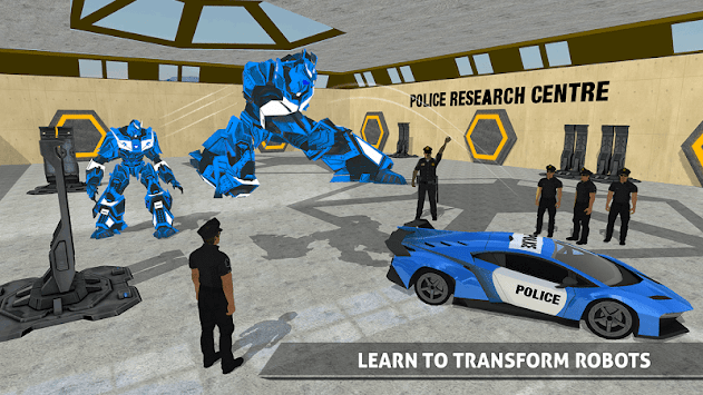 Police Robot Car Game – Police Plane Transport APK screenshot thumbnail 6