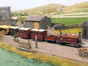 "Photo: 024 An early Festiniog train arrives at Garreg Wen with George England 0-4-0T+T loco ""The Prince"" in charge of a train of Birmingham 4 wheelers, colloquially known as bug boxes ."