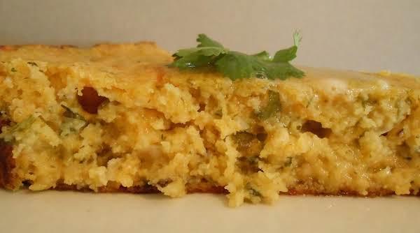 Gooey Roasted Tomatillo & Cilantro Cornbread Recipe