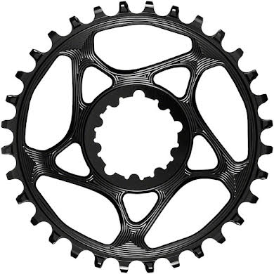Absolute Black Round Narrow-Wide Direct Mount Chainring - SRAM 3-Bolt Direct Mount, 3mm Offset alternate image 2