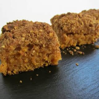 Vegetarian Pumpkin Crumble Cake.