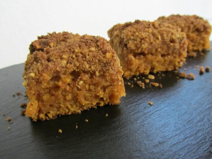 Vegetarian Pumpkin Crumble Cake Recipe
