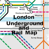 London Tube Rail Map