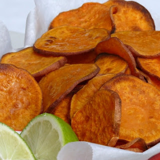 Baked Sweet Potato Chips with Lime.