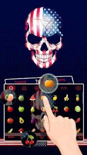 American Skull Keyboard Theme - náhled