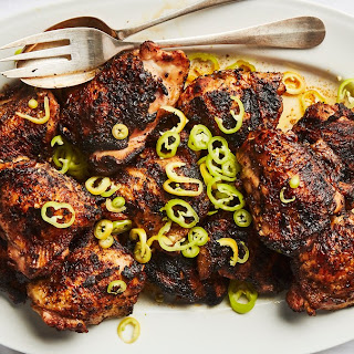 Grilled Chicken with Banana Peppers.