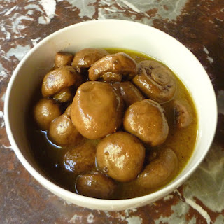 Marinated Mushrooms with Black Garlic