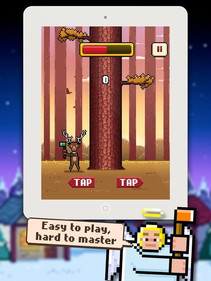 Screenshots of Timberman for iPhone