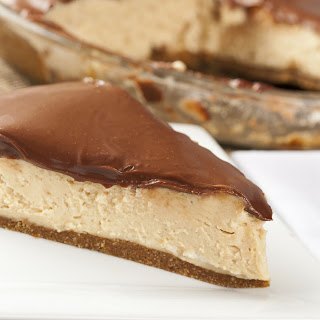 Pretzel Crust Chocolate-Topped Peanut Butter Pie