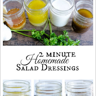 4 Jam Jar salad dressing recipes {in two minutes}