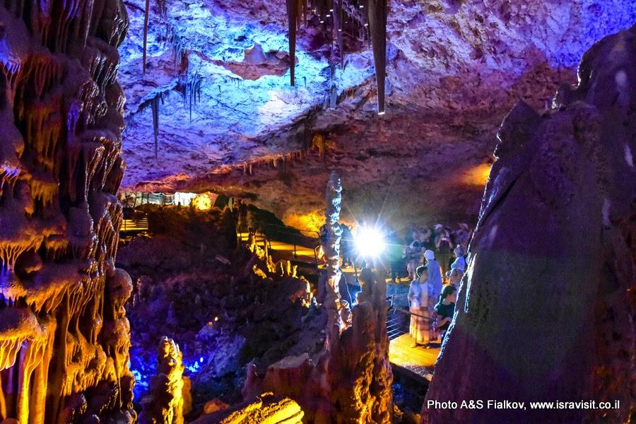 Сталактитовая пещера Сорек в Израиле. Экскурсия гида Светланы Фиалковой.