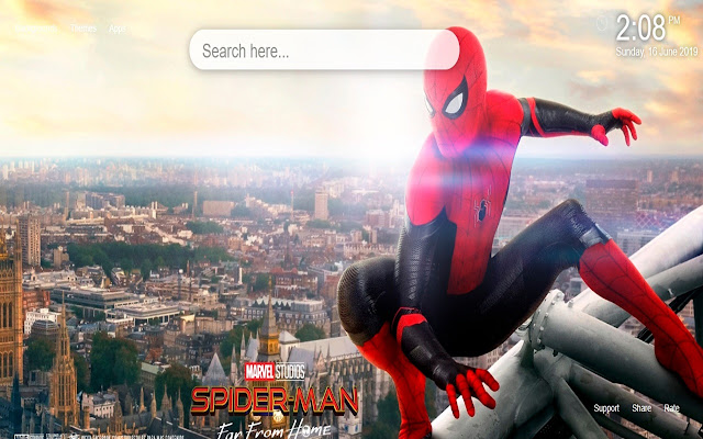 Spider Man Far From Home Wallpaper Tab