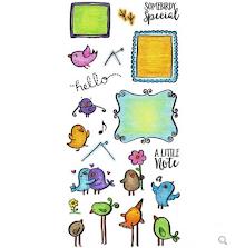 Inky Antics Clear Stamp Set - Mail Birds UTGÅENDE