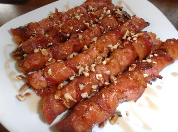 Bacon Wrapped Sesame Bread Sticks Recipe