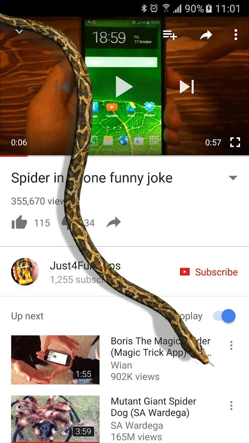 Snake On Screen Hissing Joke- screenshot