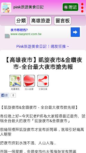 Pink旅遊美食日記 screenshot