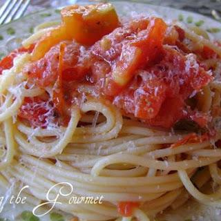 Garden Fresh Tomato Sauce & Spaghetti.