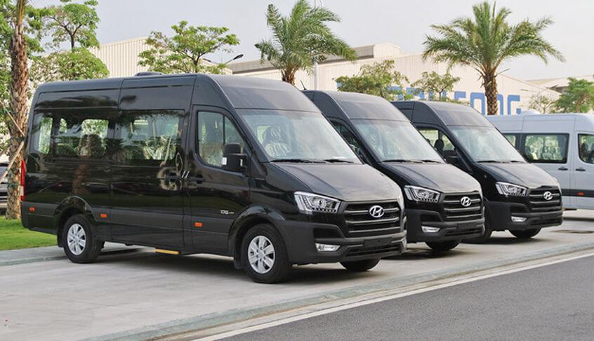 SOVABA chuyên cho thuê xe 16 chỗ tại Quảng Bình Hyundai Solati