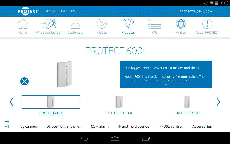 PROTECT Secured in seconds- screenshot
