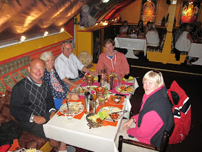Photo: Cousin Stein 'Buster* and Knut and Anne took us out to 'Mother India'
