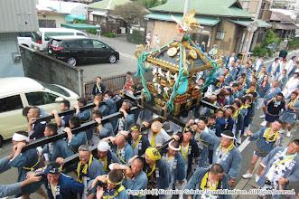 Photo: 【平成26年(2014) 本宮】 中村病院前。この辺りから雲行きが怪しくなる。
