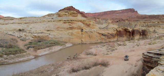 Dirty Devil River crossing