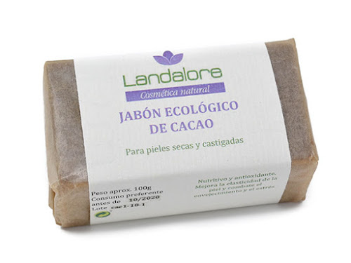 Jabón Natural Cacao Vegano Landalore