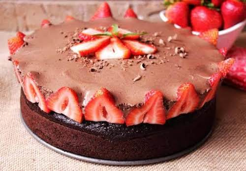 """Rose's Chocolate Mousse Berry Cake """"This chocolate mousse cake looks very fancy,..."""