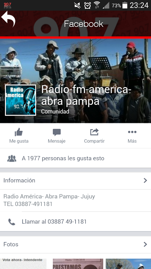 Radio America - Abra Pampa- screenshot