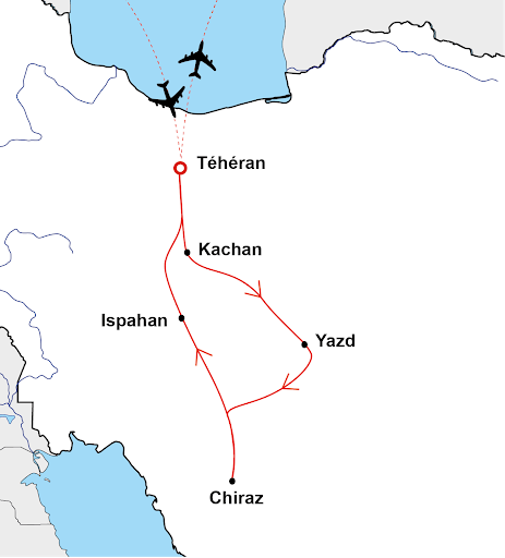 Carte circuit Iran Terra Nobilis