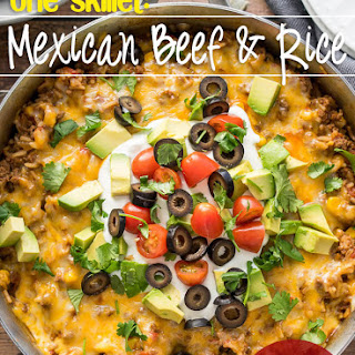 Mexican Beef and Rice Skillet.