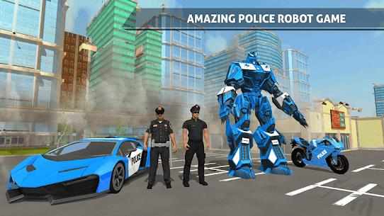US Police Robot Car Game – Police Plane Transport 3