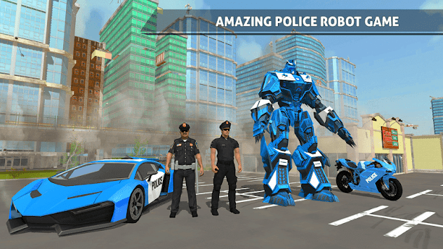 Police Robot Car Game – Police Plane Transport APK screenshot thumbnail 2