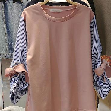 間紋蝴蝶袖top