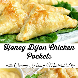 Honey Dijon Chicken Pockets with Creamy Honey Mustard Dip #anythingdressing