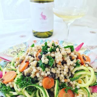 Couscous-Lentil Zoodle Salad