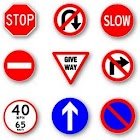 Practise Test USA & Road Signs icon