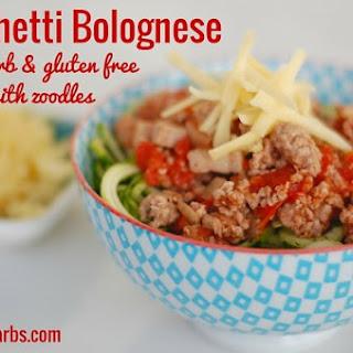 Low Carb Spaghetti Bolognese Recipe