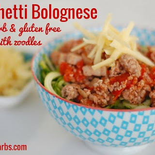 Low Carb Spaghetti Bolognese.