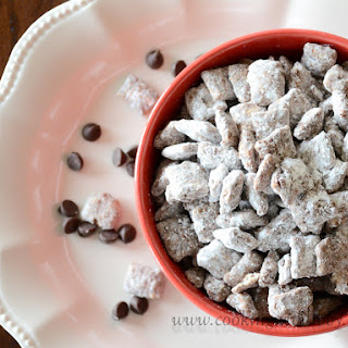 Easy Peanut Butter and Chocolate Muddy Buddies.